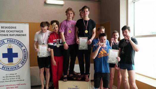 Obrazek newsa Rekord Bielska-Białej w sztafecie 4 x 50 m stylem dowolnym chłopców