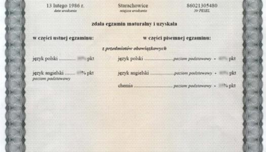 Obrazek newsa Odbiór wyników egzaminu maturalnego (świadectwa dojrzałości)