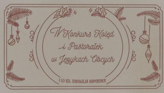 Obrazek newsa Konkurs Kolęd i Pastorałek w Językach Obcych