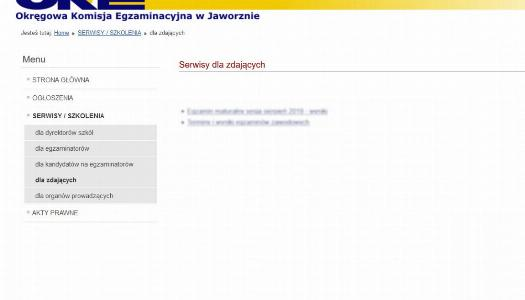 Obrazek newsa Serwis OKE dla maturzystów