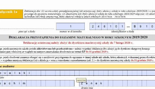 Obrazek newsa Egzamin maturalny 2020