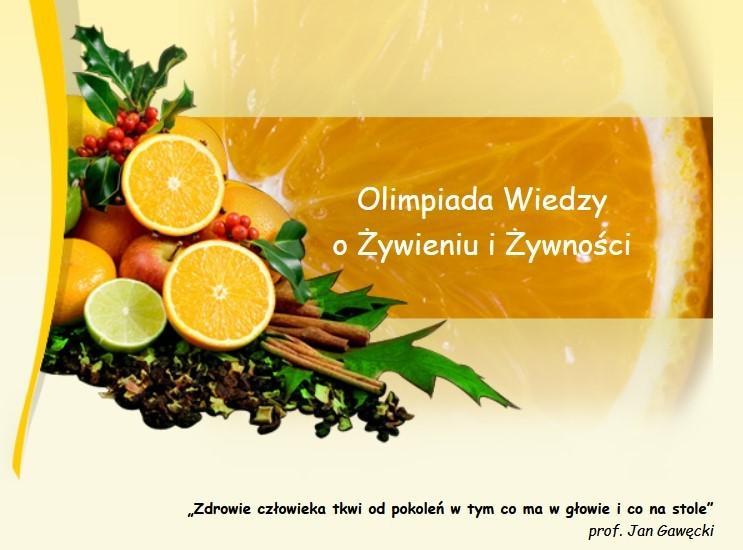 Obrazek newsa XXIV Olimpiada Wiedzy o Żywieniu i Żywności.